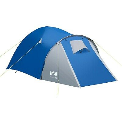 2 Man Tent Double Wall Skin Dome With Porch Two Person Camping Festival Trail • 34.99£