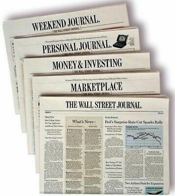 $105.98 • Buy Wall Street Journal WSJ 1 YEAR Print & Digital Subscription 5 DAY START