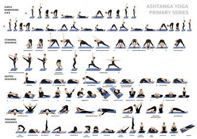 056 YOGA - Astanga Pose Fit Exercise Work Out 19 X14  Poster • 3.82£