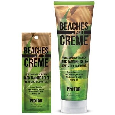 Pro Tan Beaches And Creme Dark Tanning Gelee With Carrot Oil Sunbed Lotion Cream • 2.60£