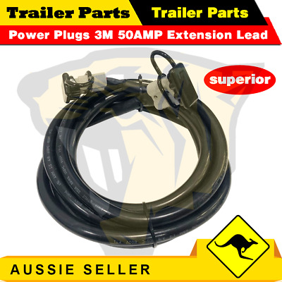 AU33 • Buy 3m 50Amp 8B&S Lead Anderson Plug Style Extension 8.36mm2 Twin Core Cable Wire