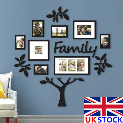 £15.58 • Buy Personalised Large Family Tree Photo Frame Picture Collage Stickers Home