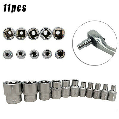 $7.54 • Buy Silver E Torx Star Bit Female Socket Nut Hand Tools 1/4 3/8 E4-E20 Parts Set Kit