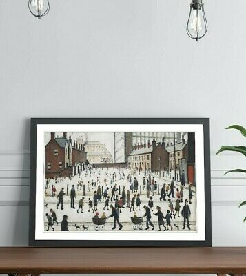 LS Lowry Winter In Pendlebury FRAMED WALL ART PRINT ARTWORK PAINTING 4 SIZES • 14.99£