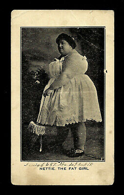$ CDN10.58 • Buy Nettie The Fat Girl, Vintage Postcard, Circus Sideshow RPPC