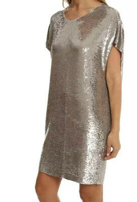 $ CDN72.78 • Buy Iro Paris Gold Sequin Shift Dress Sz L Fits M-L Exc.