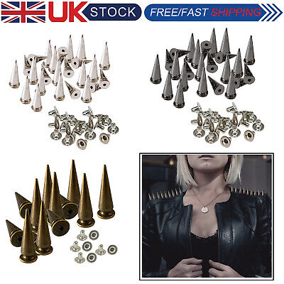Punk Studs Rivets Spike Long Cone 29x10mm For Leather Crafts Clothes Shoes X 100 • 4.45£