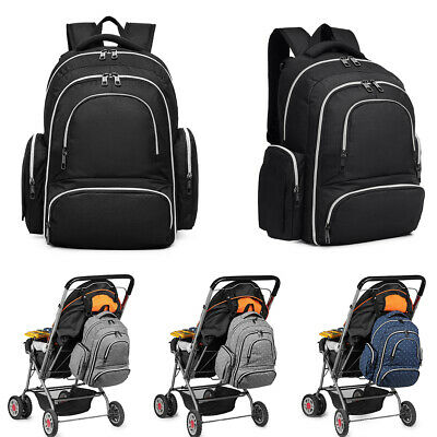4pcs Maternity Bag Baby Changing Mummy Backpack Nappy Diaper Rucksack • 19.99£