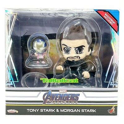 $ CDN27.89 • Buy Marvel Hot Toys Avengers END GAME Tony Stark & Morgan Stark Cosbaby BoxSet