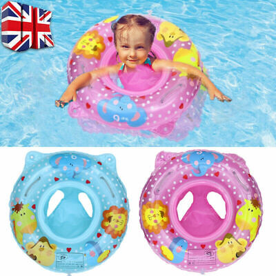 £6.99 • Buy Inflatable Baby Kids Float Swimming Ring Safety Swim Trainer Water Girls Boys UK