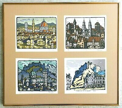 £362.87 • Buy Listed Artist KEN LAW (1918-1988) 4-Limited Edition Signed #ED Serigraphs RARE!