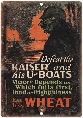 $18.95 • Buy US Food Administration WW2 War Poster 10  X 7  Reproduction Metal Sign M83