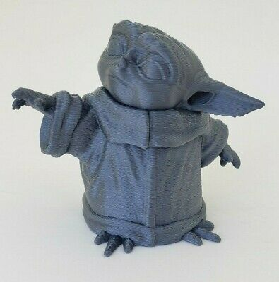$12.99 • Buy 3D Printed 3  Baby Yoda  The Child  Mandalorian Figurine Silver PLA Plastic