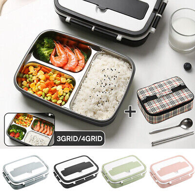 AU33.10 • Buy Portable Stainless Steel Thermos Lunch Box Bento Food Container Kids Adult + Bag