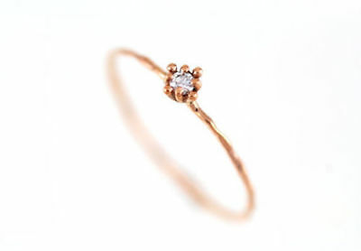 AU127.94 • Buy 9k Solid Gold Natural White Diamond Ring , Engagement Ring, Flower  Unique Ring