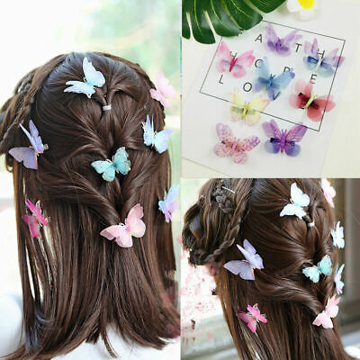£2.79 • Buy New 3D Butterfly Hair Clips Mixed Festival Summer Party Wedding Kid Gift UK