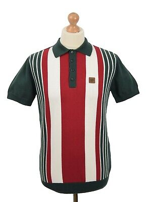TROJAN RECORDS FOREST GREEN FRONT STRIPE POLO MOD CLOTHING SOUL SKA SKINHEAD Oi • 59.99£