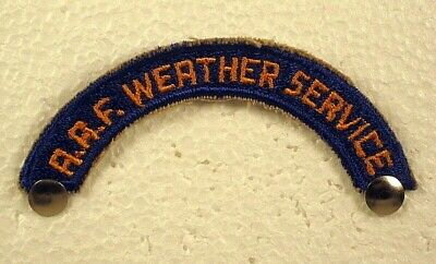 US Army Air Force (USAAF) Weather Service WW II Full Color Patch Insignia Tab • 3.66£