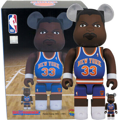 $149.95 • Buy Medicom Be@rbrick Bearbrick NBA New York Knicks Patrick Ewing 100% & 400% Set