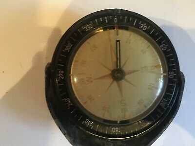 Ships Compass Well Worn With Bracket • 25£