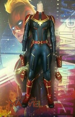 $ CDN211.58 • Buy Hot Toys Captain Marvel MMS521  -1/6th Scale Nude Body & Marvel Suit Set