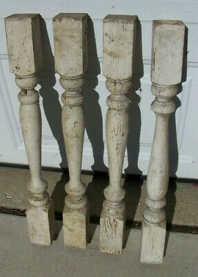 $39.99 • Buy (4 PCS)  Antique 24  X 2.5  Victorian Wooden Spindle Balusters