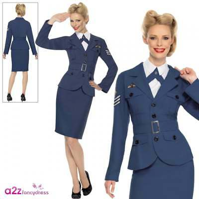 WW2 RAF Air Force Female Captain Womens Wartime Fancy Dress Costume Outfit 8-18 • 21.95£