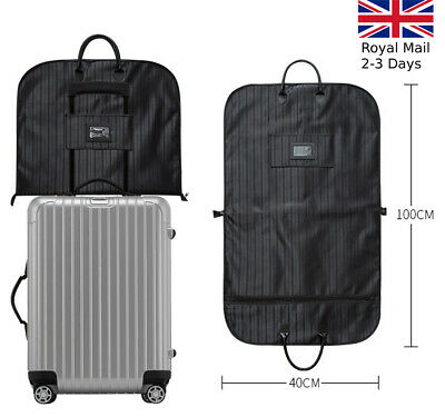 Quality Waterproof Suit Dress Carrier Garment Cover Travel Bag Strong Foldable • 12.19£