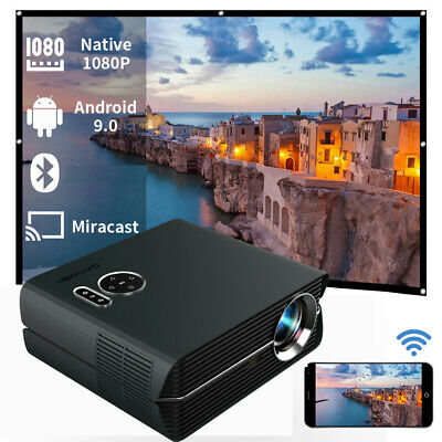 AU206.99 • Buy CAIWEI 2800 LUMENS Smart HD Android Wifi Video Projector 1080P Movie HDMI USB AV