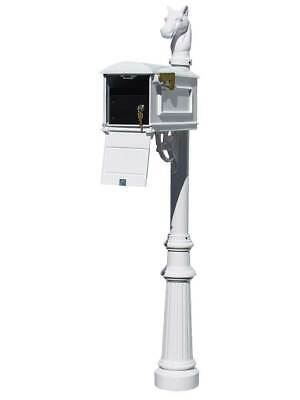 $500.08 • Buy Lewiston Equine Mailbox Post System With Locking Insert, Fluted Base, Horsehe...