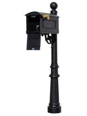 $500.08 • Buy Lewiston Equine Mailbox Post System With Locking Insert, Fluted Base, Ball Fi...
