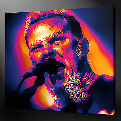 JAMES HETFIELD METALLICA MUSIC PICTURE PHOTO CANVAS PRINT 12 X12  FREE UK P&P • 28.79£