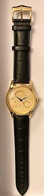 $75 • Buy CROTON ($20 Coin) 1904 LIBERTY HEAD GOLD COIN MENS SWISS QUARTZ WATCH