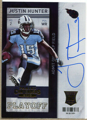 $5.39 • Buy Justin Hunter 2013 Panini Contenders Playoff Ticket RC Autograph /99 BY1551
