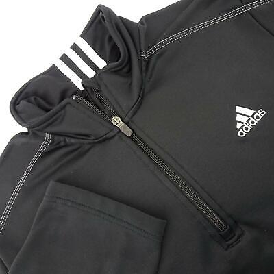 $27.99 • Buy Mens Adidas Golf ClimaLite Black 1/4 Zip Pullover Athletic Golf Shirt Size Large