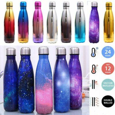 AU19.99 • Buy 350/500/750ml/1L Stainless Steel Water Bottle Vacuum Insulated Flask Gym Drinks