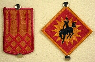 US Army 115th Field Artillery Brigade Patch Insignia Full Color Pair Set • 7.05£