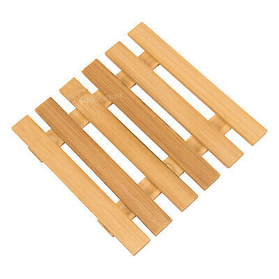 £3.99 • Buy Square Bamboo Kitchen Trivet Worktop Surface Protector Kettle Stand Hot Pan Mat