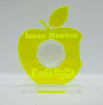 Sir Issac Newton 50p Coin Display Stand Holder 50 Pence  • 10£
