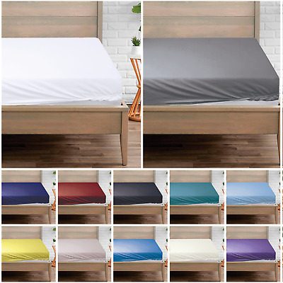 £5.99 • Buy 400 Thread Count Luxury 100% Egyptian Cotton Fitted Sheet Single Double King