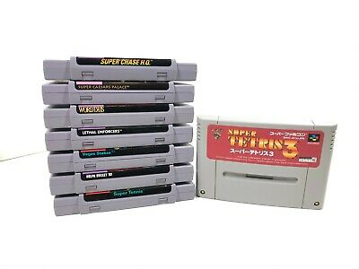 $ CDN77.50 • Buy Super Nintendo Entertainment System SNES 7 Game Lot + 1 Super Famicom Game
