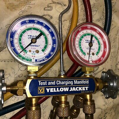 $45 • Buy Yellow Jacket Test And Charging Manifold W/Hoses Date Code 2015