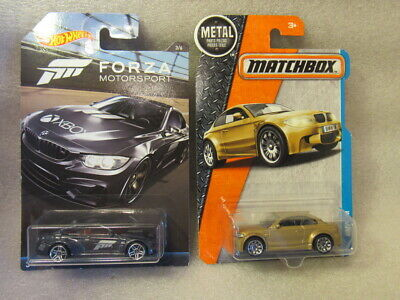 $5.15 • Buy Hot Wheels Bmw Lot Of 2 - Forza Motorsport M4 & Matchbox Bmw 1m Htf Gold -bmw M