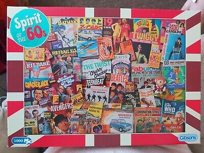 Spirit Of The 60s Jigsaw 1000 Pieces. No Pieces Missing • 1.30£