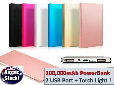 AU22.72 • Buy External 100000mAh Power Bank Pack Portable USB Battery Charger For Mobile Phone