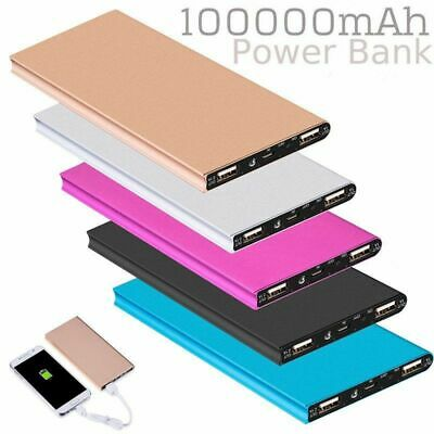 AU23.98 • Buy 100000mAh External Power Bank Dual USB Portable Battery Charger For IPhone 12 11