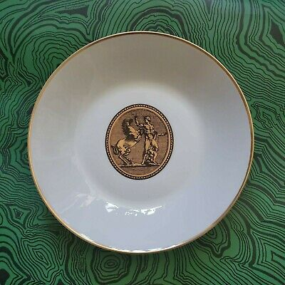 $0.99 • Buy Vintage 1950's Piero Fornasetti Rosenthal Gold Ancient Roman Cammei Bowl (1)