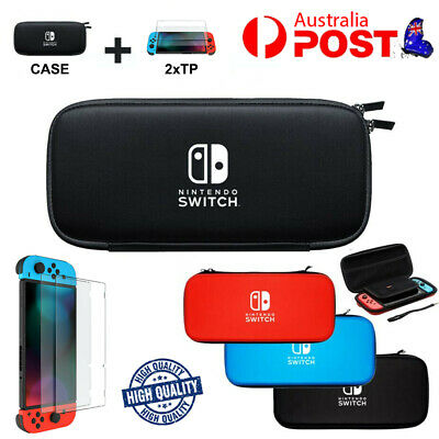AU15.79 • Buy For Nintendo Switch Shell Carrying Case Storage Bag Cover+ Tempered Screen Glass