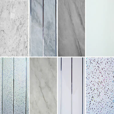 £29.49 • Buy Bathroom Panels Grey White Marble Shower Wall Cladding Sparkle PVC Ceiling