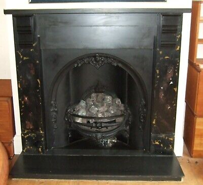 Victorian Fireplace With Gas Fire • 325£